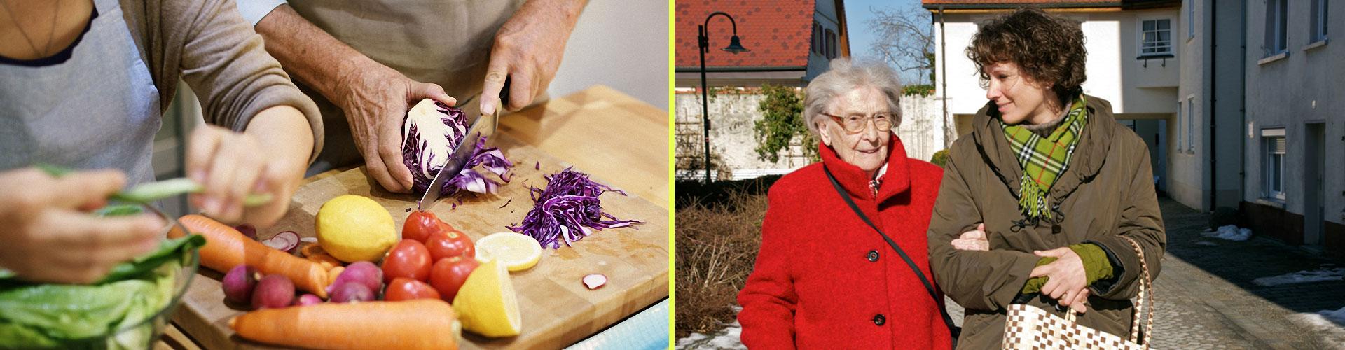 Hilfe für Senioren und pflegebedürftige Personen